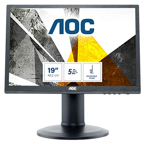 AOC I960PRDA 48,3 cm (19 Zoll) Monitor (VGA, DVI, 60 Hz, 1280 x 1024, Pivot) schwarz