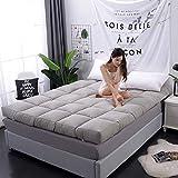 zyl Colchón de Tatami japonés Almohadilla para Dormir Suave y cómoda Transpirable portátil Plegable para Piso de Tatami para Acampar en la Sala de Estar del Dormitorio (Color: Gris Tamaño: Twin-
