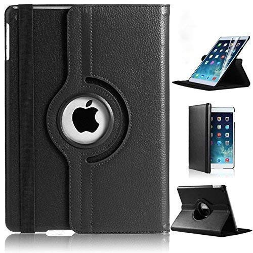 iPad Mini 2/3 Case,DN-TECHNOLOGY Case for Apple iPad Mini 2 3 (Not for iPad Mini 4) 360 Rotating Leather Smart Auto Wake/Sleep Flip Case For Apple iPad iMini2/Mini3 Shockproof Cover(BLACK)