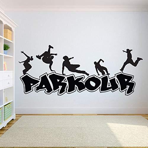 hetingyue Extremsport Wandaufkleber Abnehmbare Vinyl Kunst Wand Poster Stadt Straße Sport Schlafzimmer Dekoration Aufkleber 57x135cm