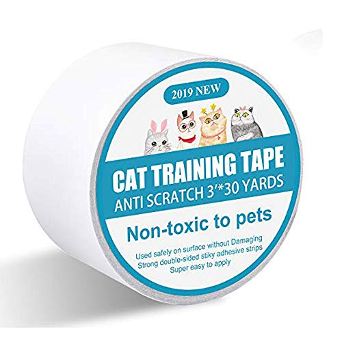 I-pure items Cat Scratch Deterrent Tape - Anti-Scratch Cat Training Tape - 3 inches x 30 Yards...