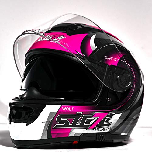 Casco De Moto Mujer Integral marca SIE7E MOTORCYCLE PARTS AND ACCESSORIES