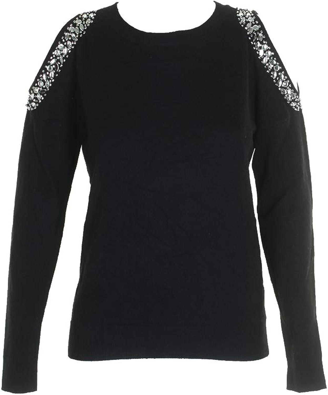 INC International Concepts Embellished ColdShoulder Sweater