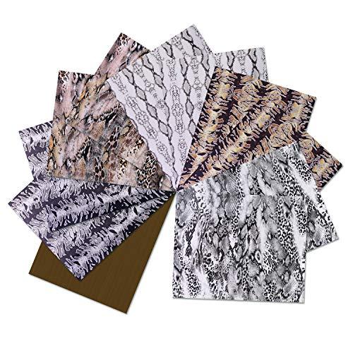 SHOYISI Hitzetransfer-Vinyl, zum Aufbügeln auf Vinyl, 30,5 x 25,4 cm, PU-HTV für Hemden zum Selbermachen (Tiermuster)