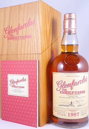 Glenfarclas 1997 20 Years The Family Casks Sherry Butt Cask 453 Highland Single Malt Scotch Whisky Cask Strength 54,9% Vol. - eine von 565 Flaschen!