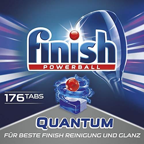 Finish Calgonit Quantum Reiniger mit Glanz und Glasschutz, 176 Spülmaschinentabs, 8er Pack