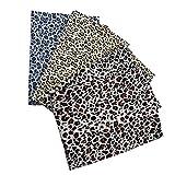 PRETYZOOM 5 Stück Baumwollstoff Blumen Leoparden Muster
