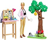 Barbie Entomologist Doll, Blonde, and Playset with Working Features and 20+ Accessories Inspired by National Geographic for Kids 3 Years to 7 Years Old