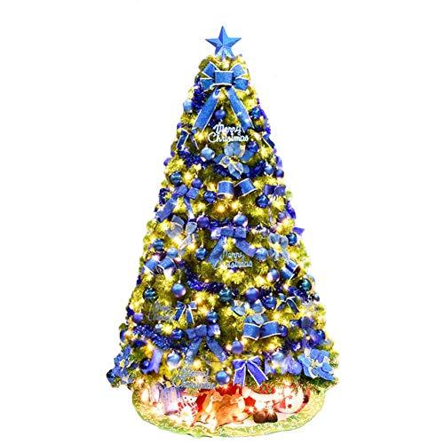 ZYQHJKLHK Árbol de Navidad Artificial, árbol de Navidad con bisagras de Abeto...