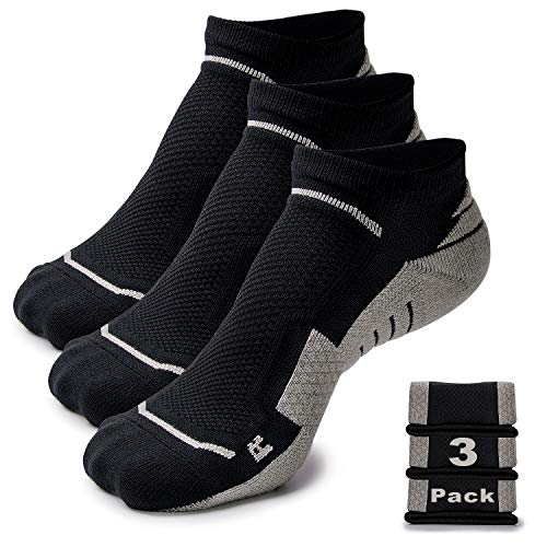 Running Socks for Men and Women, Ankle Cut, Anti-Blister | Ideal for Hiking, Gym, Workout, Bike, Trail | Premium Moisture Wicking Fabric, Anti-Slip | Boost Performance and Keep Healthy Feet