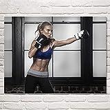 Turnhallen Motivierende Poster und Drucke Frauen Fitness