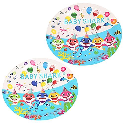 YSJJEFB Globos Decoración de la Fiesta de cumpleaños Baby Globo vajilla desechable Mantel de Tablas de Papel Placa de Papel Regalo de la Fiesta de Bienvenida al bebé ( Color : 9 Inch Plate 10pcs )