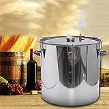 CS-Art New Barrel fermenteur Accueil brassage de la bière Fermentation vin en acier inoxydable Thermomètre...