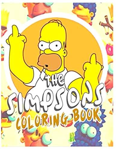 el libro para colorear Simpsons: para niños y adultos con imágenes de alta...
