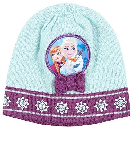 Bonnet enfant fille La reine des neiges Vert/violet de 3 à 9ans (54 (6-9 ans))