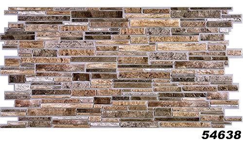 1 Platte | Dekor Paneele | Steinoptik | Wand | PVC | stabil | 98x49 cm | 54638