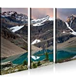 Quadro moderno Fiordi la Noruega Impresión sobre lienzo–Quadro X sillones salón cocina muebles oficina casa–Fotográfica Tamaño XXL