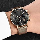Voigoo Clock Rose Gold Frauen-Uhr-Geschäfts-Quarz-Uhren Damen Top-Marke Luxusuhr, Frauen, Mädchen Armbanduhr + Box