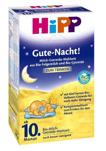 Hipp Gute Nacht Bio-Milch-Getreide Mahlzeit ab 10. Monat, 3er Pack (3 x 500g)