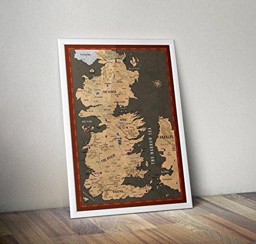 Cartel Game of Thrones Póster / impresión - Mapa