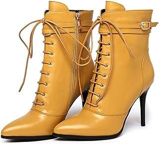 Story of life Womens Lace Up Stiletto Inverno Allineato Pelliccia Stivaletti Caldi Fatti A Mano Per Wedding Party Dress Shoes