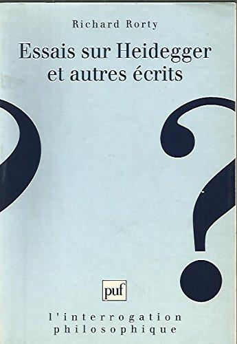Essais sur Heidegger et autres écrits