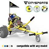 CITYSPORTS Hoverkart - Versión Infantil Go Kart con Asiento para Hoverboards - Fijación Ajustable Universal Hoverkart, Compatible con Todos los Hover Boards