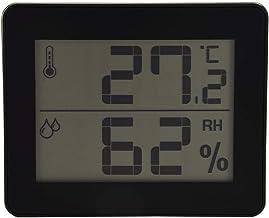 Monitor digital de humedad preciso y termómetro para interiores con pantalla LCD grande, adecuado para el hogar, la oficina, el cuarto de bebés, el invernadero, etc. 3 colores disponibles(negro)