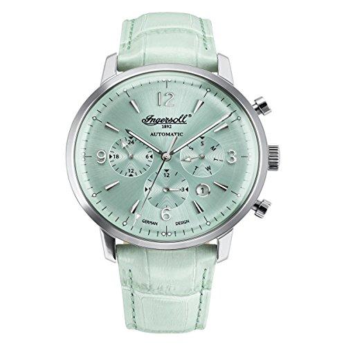 Ingersoll Damen Analog Automatik Uhr mit Leder Armband IN1712AQ