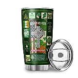 WellWellWell Taza de viaje con tapa a prueba de salpicaduras, de acero inoxidable, diseño 3D, taza de café, taza de viaje,...