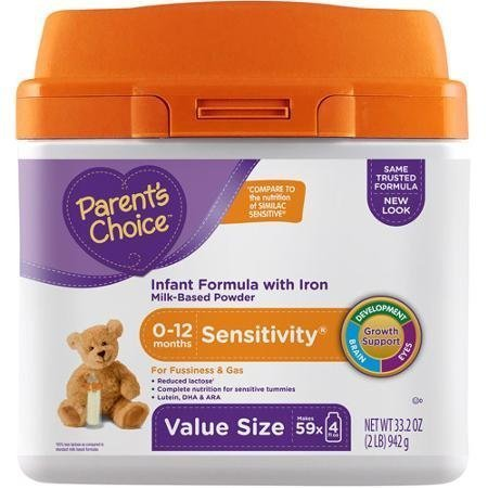 Parents Choice Sensitivity Canned Powder Infant Formula, 33.2 Oz