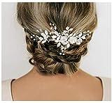 SWEETVSweetTV - Peineta de boda con diamantes de imitación para novias y damas de honor, Plateado, 1.00[set de ]