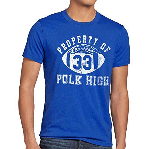 style3 Property of Polk High Camiseta para Hombre T-Shirt, Talla:M;Color:Azul