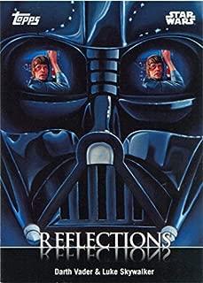 Star Wars Card Trader 2016 Reflections R-7 Chase Card Darth Vader Luke Skywalker