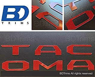 BDTrims Tailgate Plastic Letters Inserts fits 2016-2020 Tacoma Models (Red Carbon)