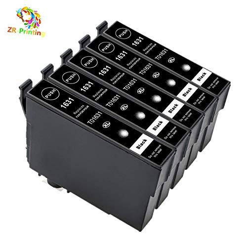 ZR-Printing Cartucce 16XL Multipack Compatibile con Epson 16 XL per Epson WorkForce WF-2010 WF-2510 WF-2520 WF-2530 WF-2540 WF-2630 WF-2650 WF-2660 WF-2750 WF-2760 (5 Nero)