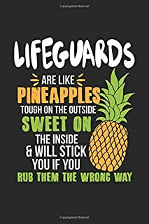 Lifeguards Are Like Pineapples. Tough On The Outside Sweet On The Inside: Lifeguard. Graph Paper Composition Notebook to Take Notes at Work. Grid, ... To-Do-List or Journal For Men and Women.