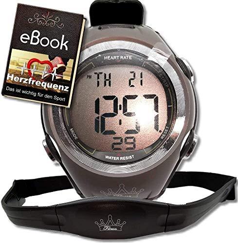 bestbeans© Heartbeat Puls-Uhr mit Brustgurt Herzfrequenz-Messung & Fitnesstudios ANT Trainingsbereich, Kalorienverbrauch Fettverbrennung Sportuhr Wasserdicht (Plus)
