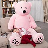 WOWMAX 6 Foot Giant Huge Life Size Teddy Bear Daney Cuddly Stuffed Plush Animals Teddy Bear Toy Doll for Birthday Christmas Pink 72 Inches