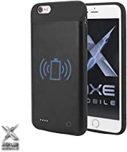 Axe Mobile - Battery Case for iPhone 6/7/8 and iPhone 6/7/8 Plus with Qi Wireless Charging, 2600/3800 mAh Portable Protective Charging Case Extended Battery Charger (iPhone 6/6s (2600mAh)