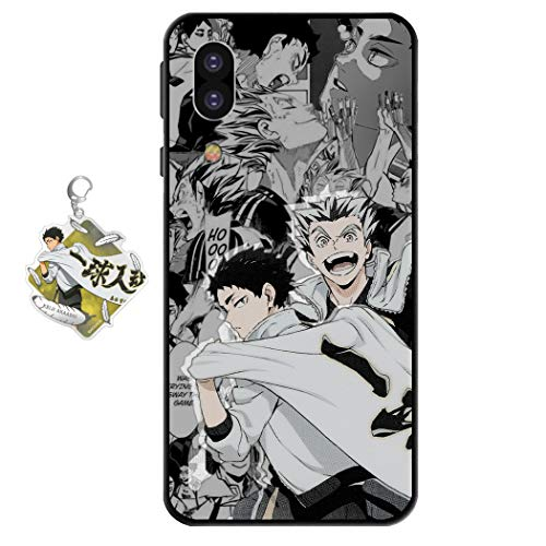 Samsung Galaxy S8 Case Haikyuu Anime Design [with Haikyuu Figure Keychain], Soft Silicone TPU Animation Volleyball Boy Phone Case for Samsung Galaxy S8