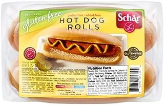 Schar Gluten Free Hot Dog Roll, Split - 8 oz (Pack of 6)
