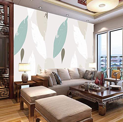 Fotobehang 3D Silhouette Bladeren, 150X100Cm Non-Woven muur muurschildering Fotobehang Beeld Thuis Slaapkamer Woonkamer Decoratie 400x280cm