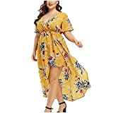 SHENYANGWA Fall Dresses for Women Party Plus Size V-Neck Polka Dot Caims Cold Shoulder Dress Wedding Guest