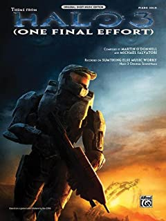 One Final Effort (from Halo 3) - P/V/G Sheet Music