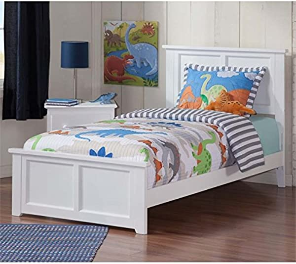 Leo Amp Lacey Twin Panel Platform Bed In White