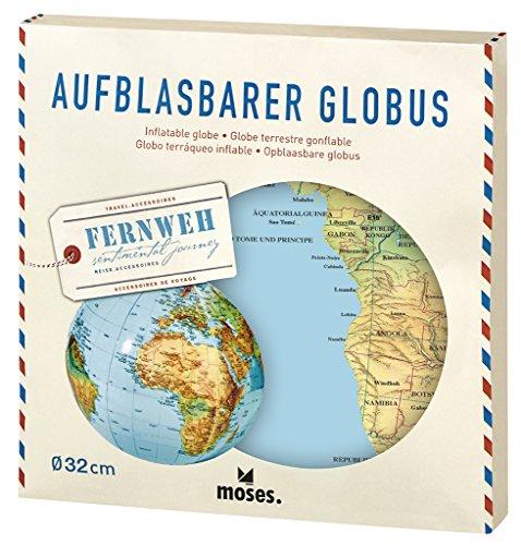 Moses 82326 Fernweh Aufblasbarer Globus | Weltkarte