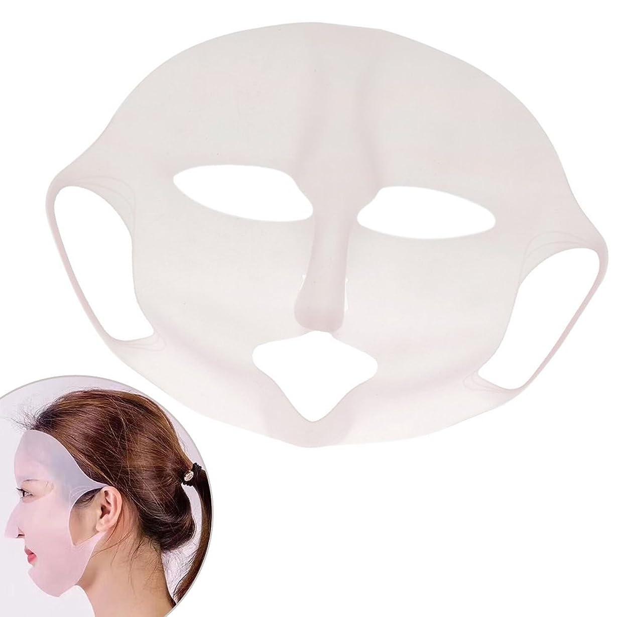 物質リネンチェスフェイスパックカバー シリコンマスク フェイスマスク 美容液 防蒸発 保湿 便利なグッズ 吸収 3枚入り 21cm
