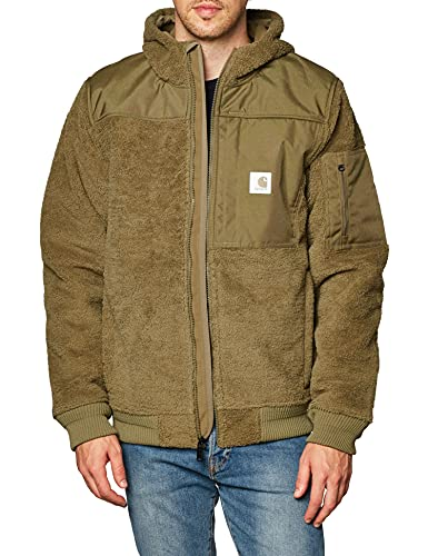 Carhartt Men's Yukon Extremes Wind Fighter Fleece Active Jacket, Burnt Olive, X-Large