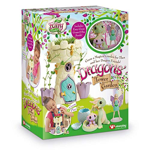 My Fairy Garden FG408 Dragon's Tower Garden Dollhouse Dolls & Accessories, Multicolor